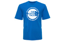 The North Face Boy's S/S Circle Logo Reaxion Tee nautical blue